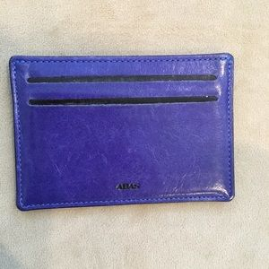 Abas Blue Leather Card Holder
